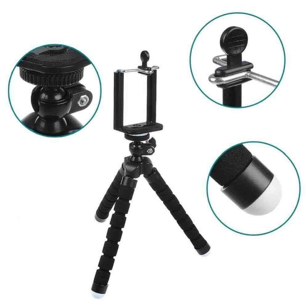 Untuk GoPro Aksesoris Fleksibel Mini Gurita Tripod Ponsel Bracket Berdiri Mount Monopo dengan Sekrup untuk GOPRO HERO 5 4 3 + 2 Xiaomi Yi
