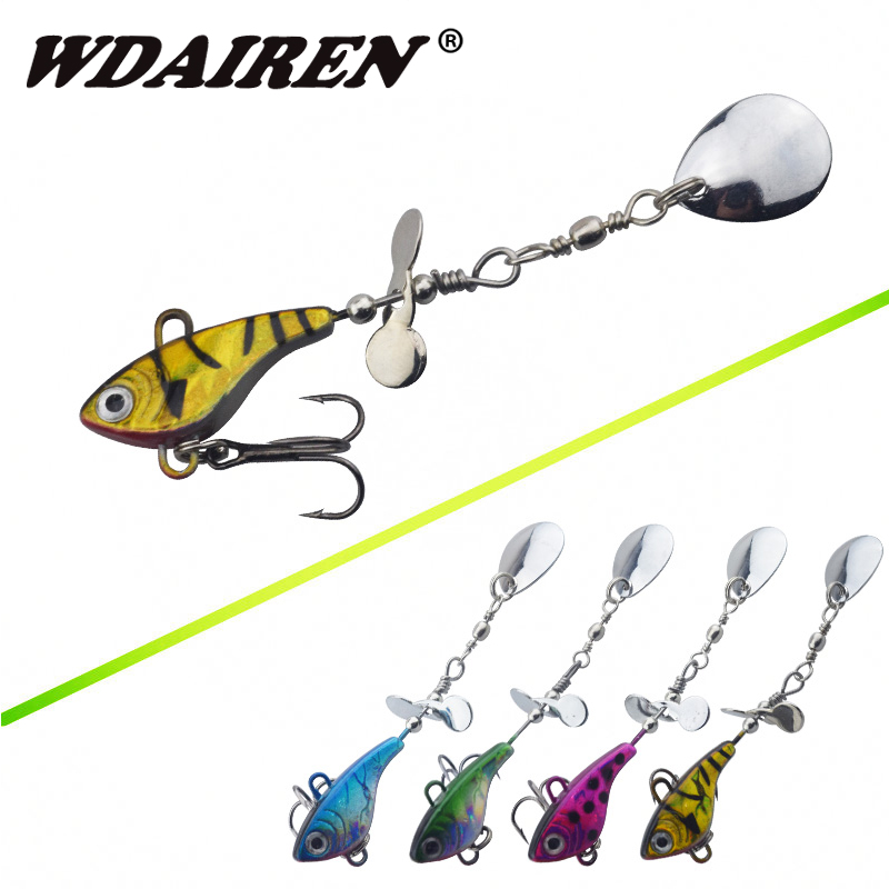 WDAIREN Hot Sale Metal Spinner Spoon 11.5g VIB Hard Bait Fish Treble Hook Perch Fishing Lures Tackle Vibration Hard Bait WD-025 14mm 16mm 17mm 18mm 19mm 20mm 21mm 22mm 23mm 24mm silver black full stainless steel watch strap wacthband for rarone with logo page 1