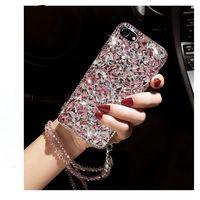 For Samsung Galaxy S5 S6 S7 Edge Plus Note 4 5 Luxury Cute Rhinestones Diamond Glitter