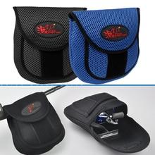 Bolsa de malha para carretel de pesca, estojo protetor para armazenamento de carretel de pesca com bolsa protetora 19.5x18x2cm