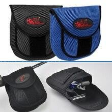 Mesh Doek Vliegvissen Reel Tas Beschermende Cover Case Pouch Reel Opslag Houder Protector Visserij Aanpakt Zak 19.5X18X2 Cm