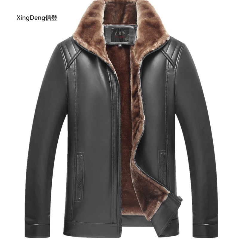 Мужская повседневная куртка XingDeng, черная водонепроницаемая куртка из искусственной кожи на молнии, 2019