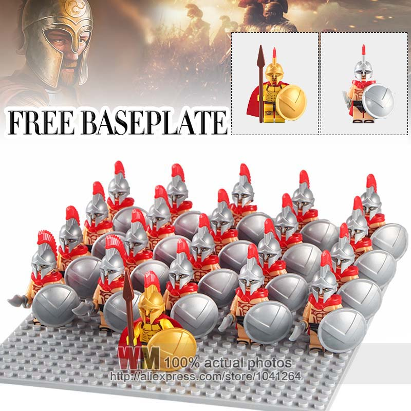 Toys & Hobbies Model Building Official Website Wm1013 Medieval Knights Xh647 Rome Commander Hero Of Sparta With Cape Bricks 21pcs/lot Building Blocks Children Gifts Toys To Have Both The Quality Of Tenacity And Hardness
