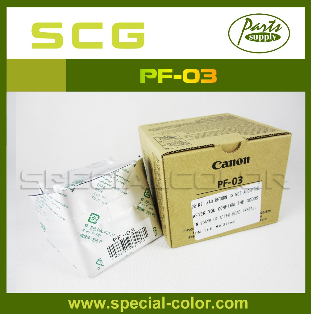 Made in Japan PF-03 Printhead New Packing for iPF500/510/600/605/610/700/710/720/810/815/820/825 waste ink box maintenance tank chip resetter for canon ipf500 510 600 610 700 710 720 810 815 820 825 large format plotters