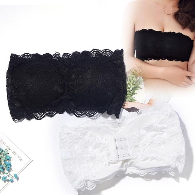 d7e978c6a3d7d Fashion Women Ladies Stretch Sexy Lace Bra Push Up Wire Free Padded  Strapless Seamless Tube Bra