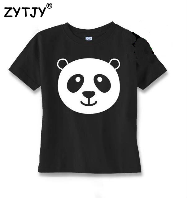 panda Print Kids tshirt Boy Girl shirt Children Toddler Clothes Funny Top Tees Z-45 deha b11