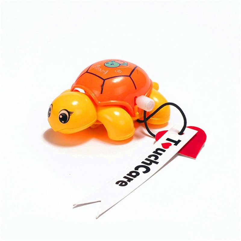 Случайный цвет мультфильм животных Заводной черепаха Детские Черепашки ползание младенца заводная игрушка обучающая Классическая Детская игрушка