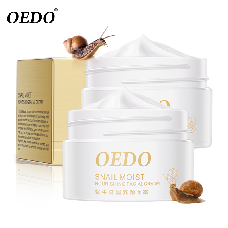 2PCS Snail Essence Skin Care Face Cream Serum Whitening Anti-wrinkle Anti Aging Hydrating Moisturizing Facial Creams Cosmetics omylady 30g face creams korean cosmetic deep moisturizing day cream hydrating anti wrinkle whitening lift esseence skin care