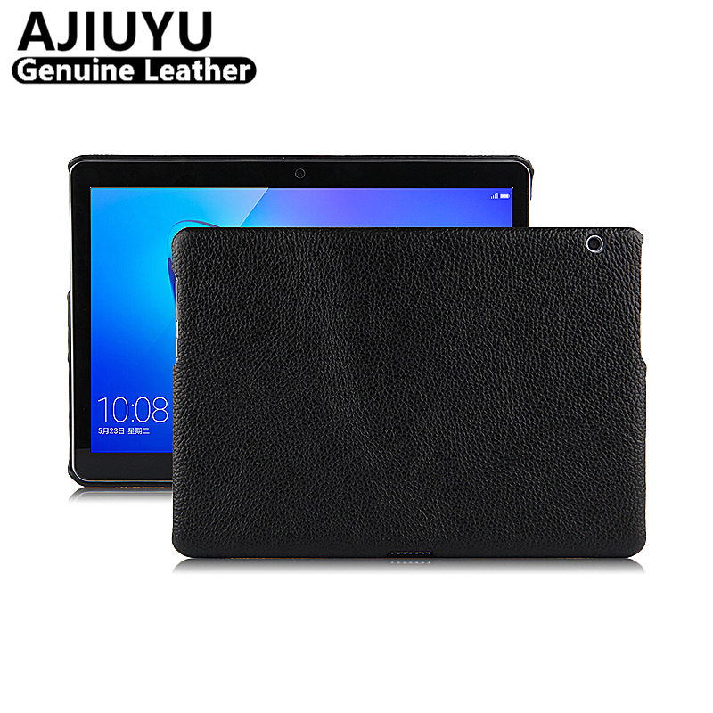 Genuine Leather For HUAWEI MediaPad T3 10 Case Cover T3 10.0 Case 9.6 AGS-W09 AGS-L09 Cowhide Tablet Honor Play Pad2 TPU Cases ...