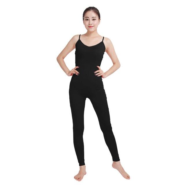 Ensnovo Black Ballet Yogo Jumpsuit Women Adult Gymnastics Lycra Nylon Spandex  Body Suit Adult Leotard Black c9fe9ec1bc0a