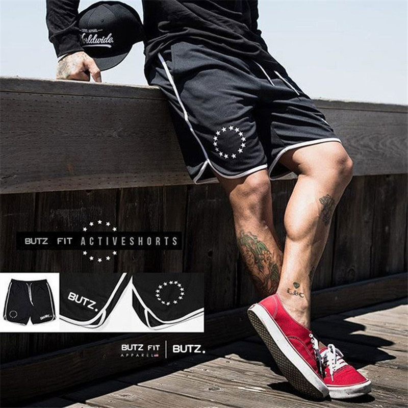 NEW 2019 Running Shorts Men Fitness Gym Shorts Printing Sport Shorts Workout Jogging Rashgard Training Exercise Sweatpants