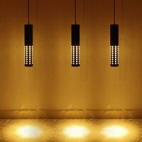 Alumínio LED Criativo Luz Pingente oco out bar lâmpada pendurada café Simples Tubo de Cilindro Pingente Luzes Luz Da Cozinha Luzes de pendentes     -