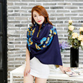 2015 girls gift  winter  women lady soft neck charm warmer scarf wrap flural beauty fashion print elegant grace scarf women new
