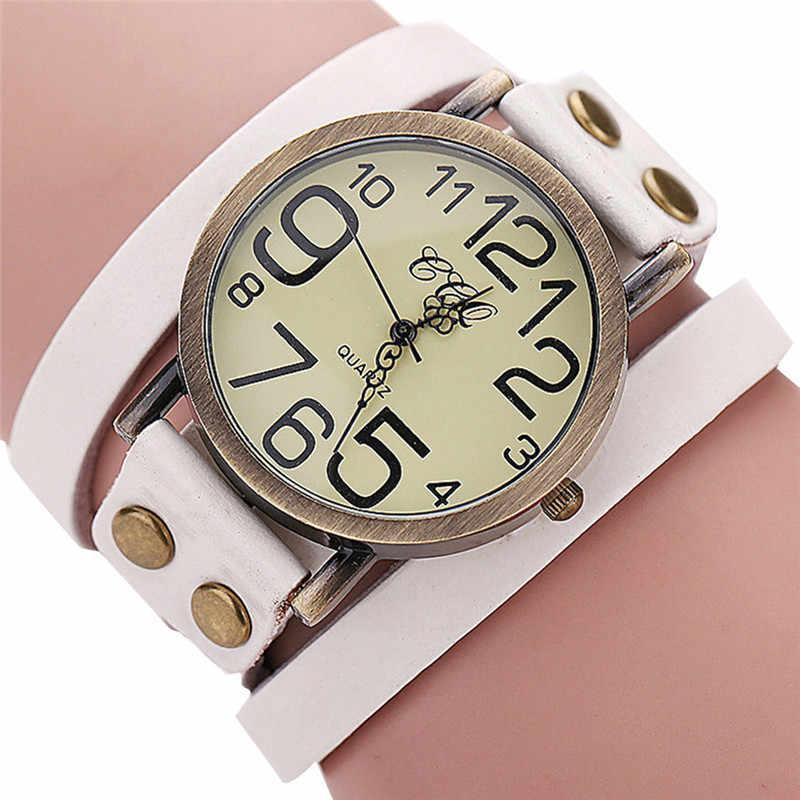 ae5cae42a33 ... Для женщин часы ccq Роскошные br Винтаж корова кожаный браслет смотреть  Для мужчин Для женщин наручные ...