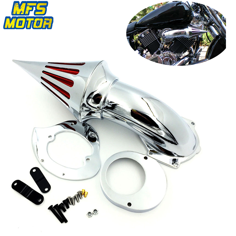 For 82 12 Yamaha V Star V Star 650 Spike Cone Air Cleaner Intake Filter Kit Motorcycle Accessories Parts 1982 1983 1984 2012 in Air Filters Systems from Automobiles Motorcycles