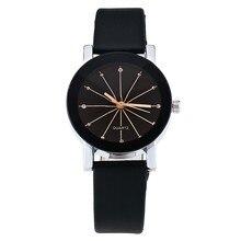 2018 Новый Для мужчин и Для женщин Топ бренд часы простой и элегантные модные пару часов автоматические кожа кварцевые часы