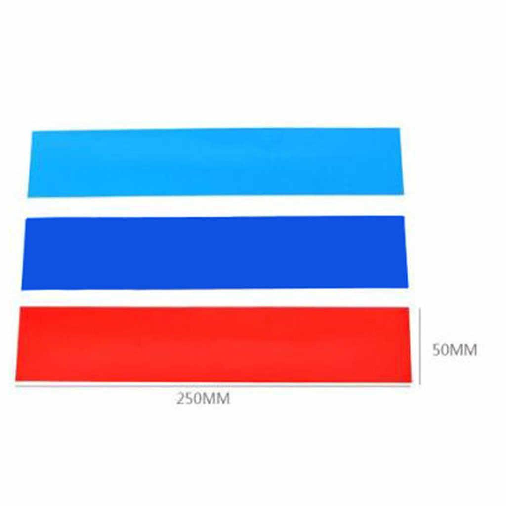 Abordable tricolore bande décorative voiture autocollant Non-réfléchissant personnalité autocollant adapté pour BMW voiture autocollants voiture style