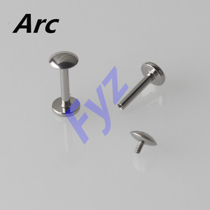 Image 4 - Different Shapes Tops G23 Titanium Internal Thread Labret Lip Piercing 16G Ear Cartilage Helix Tragus Stud Body Jewelry