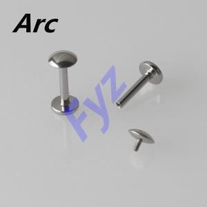Image 4 - Piercing Labret de hilo interno de titanio G23, diferentes formas, para labio, 16G, Hélix, cartílago de oreja, Tragus, joyería para el cuerpo