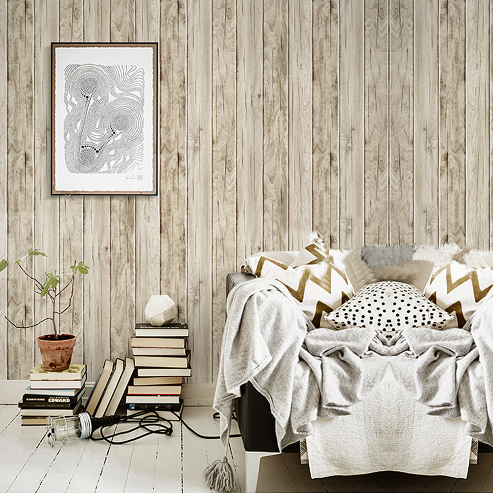 Wood Panel Peel and Stick Wallpaper 23.6 x 19.7ft Sand Multi Self Adhesive Contact Wall Decoration filorga sleep and peel в аптеке