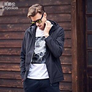 Image 3 - Enjeolon 2020 outono inverno bombardeiro jaqueta homens blusão jaquetas dos homens casacos streetwear algodão acolchoado jaqueta roupas jk0324