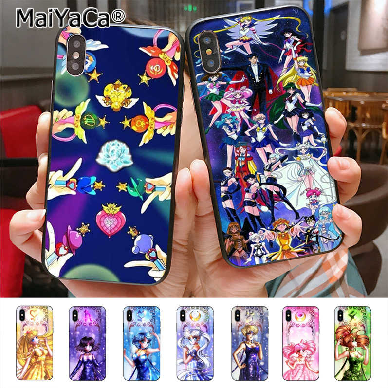 Maiyaca Sailor Moon Phone Case untuk iPhone 11 Pro X 7 Plus 6 6 S 7 8 8 PLUS 5 5S