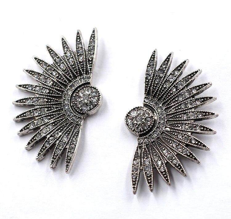 2 Colors Trendy Crystal Earrings Jewelry Vintage Big Stud Earrings For Women Jewelry