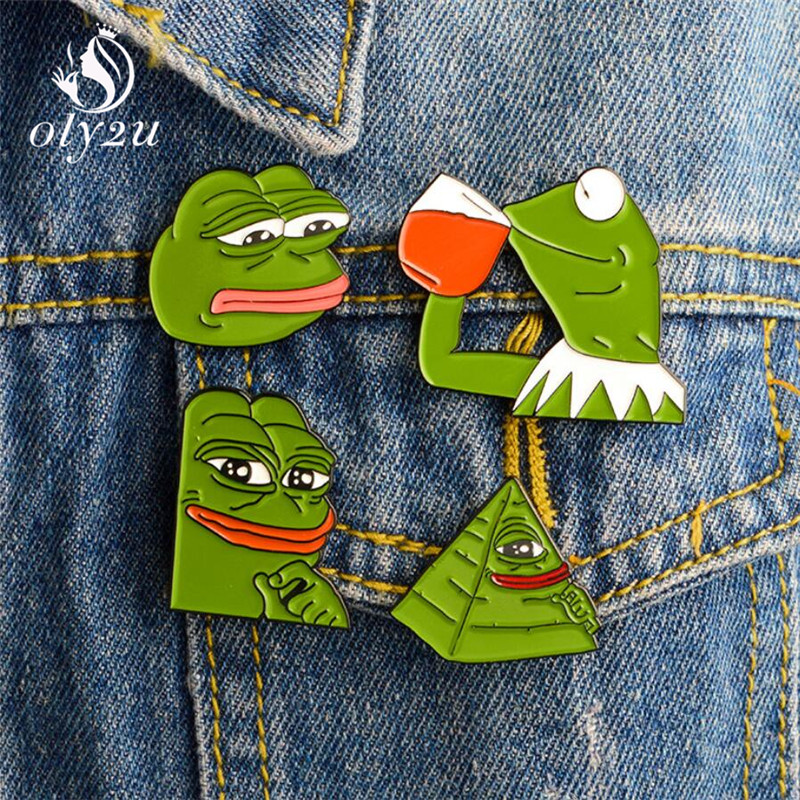 Pepe The Frog  Brooch Pins