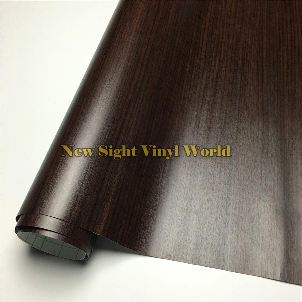 Teck voiture Grain de bois vinyle rouleau Wrap PVC bois adhésif vinyle plancher meubles Auto Interier taille: 1.24X50 m/rouleau (4ft X 165ft)
