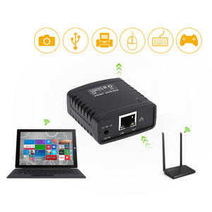 Image 5 - USB 2.0 LRP Print Server Share a LAN Ethernet Networking Printers Power Adapter USB HUB 100Mbps Network Print Server