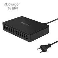 ORICO DUB 12P 5V2 4A EU US UK Plug Desktop Super Charger 20A100W 12 USB Ports