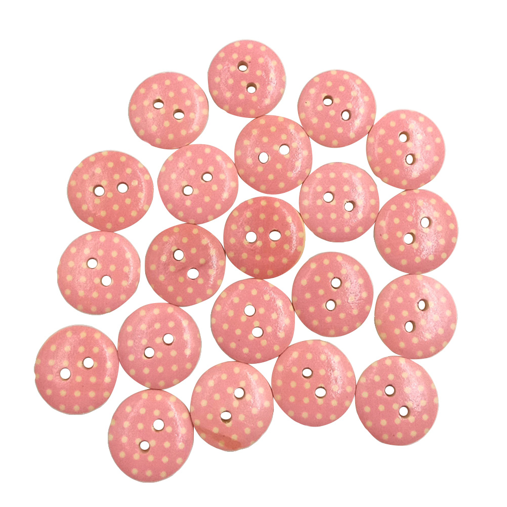 ASSORTED COLOURS FOR CARDIGANS CLOTHING DRESSES 15MM SHINY TWO HOLE BUTTONS