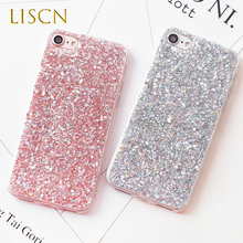 LISCN Bling Case for iPhone 5 5S Silicone Glitter Crystal Sequins Soft Cover  SE 6 6S 7 8 Plus X XR Xs Max