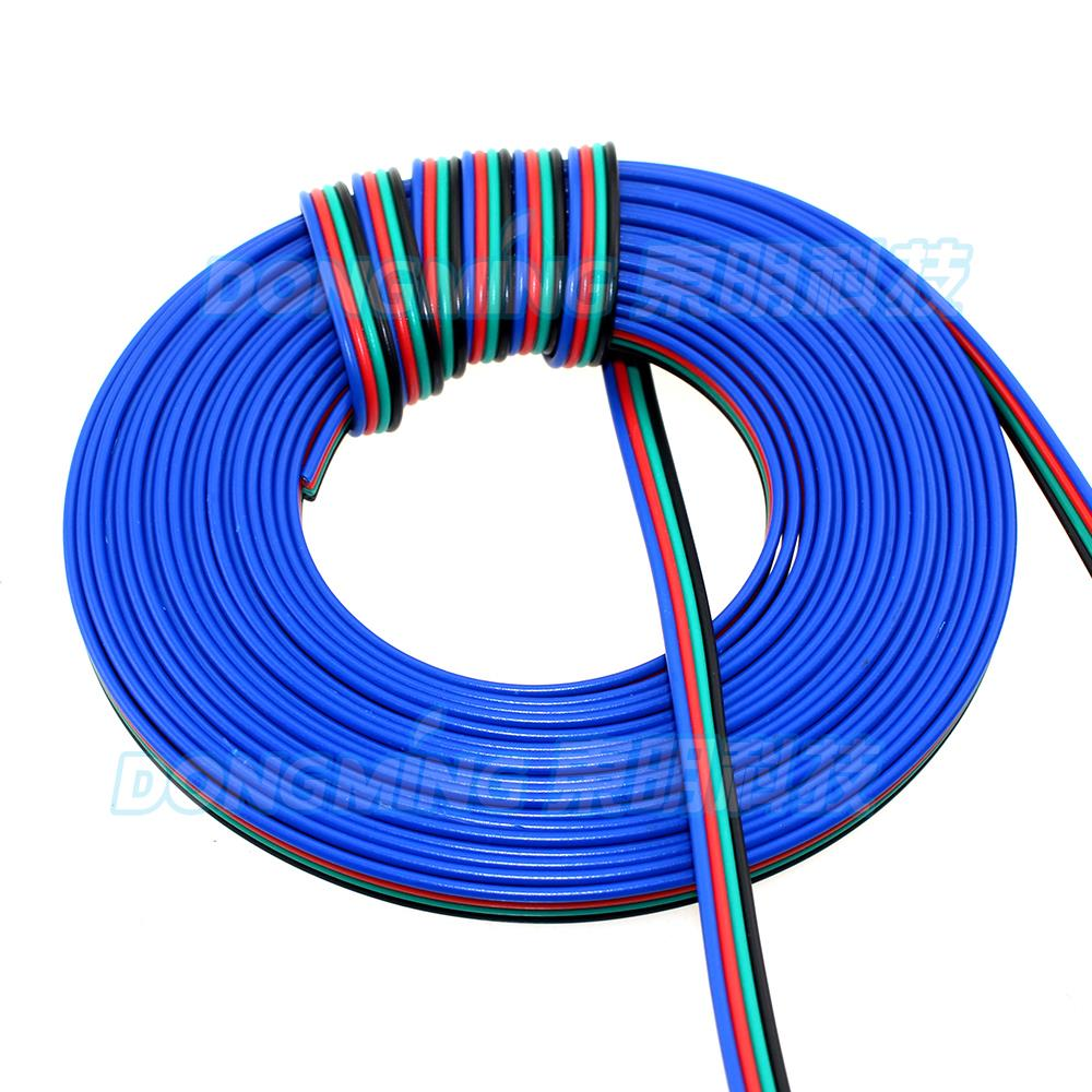 50m Led Cable 4pin Electric Wire Pvc Insurated For Copper Conductor China Strip 4 Pin Tinned Cord Extension Connector In Wires Cables From Lights