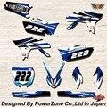 WR YZ YZF 125 250 400 450 Команда Графика Фоны наклейки Наклейки N2 Двигателя кроссового Мотоцикла Байк MX Гонки части