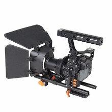 DSLR Video Stabilizer Film Movie Making Camera Cage with 15mm Rod System Rig Kit