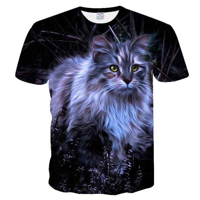 Новинка, футболка для мужчин/женщин, 3d принт, мяу, черный, белый, кот, хип-хоп, Мультяшные футболки, летние топы, футболки, модные 3d футболки, M-5XL - Цвет: txu-172
