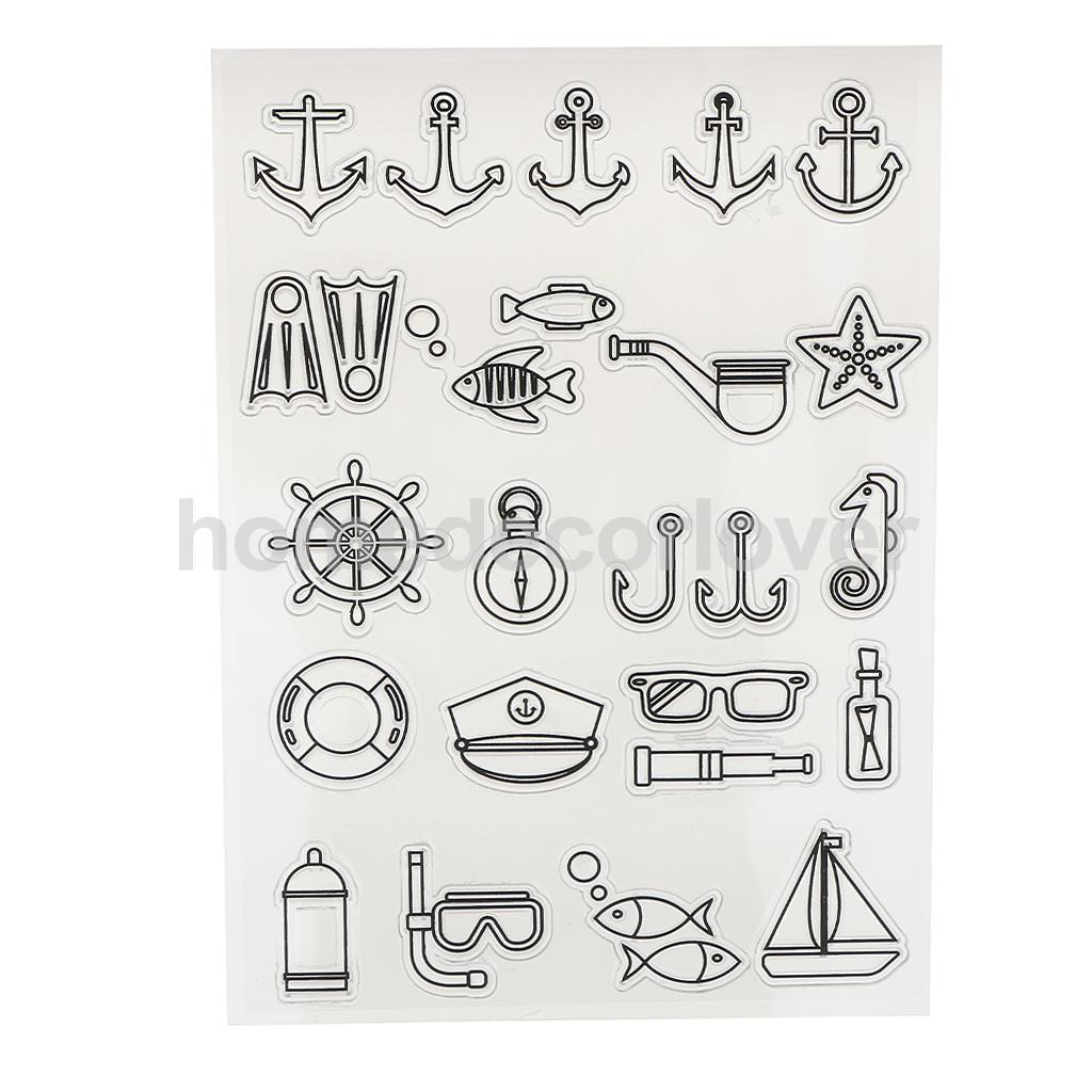 Прозрачный штамп печать для создания карты Скрапбукинг DIY альбом декор навигация тема