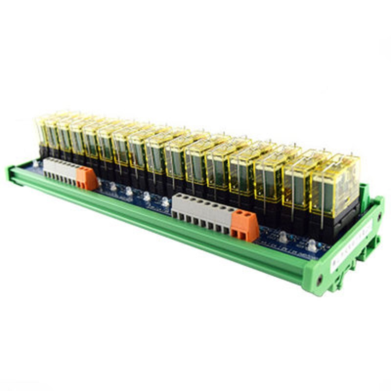Relay single-group module 16-way compatible NPN/PNP signal output PLC driver board control board 16 relay module control board 3 3v 5v 12v 24v plc driver board microcontroller mcu