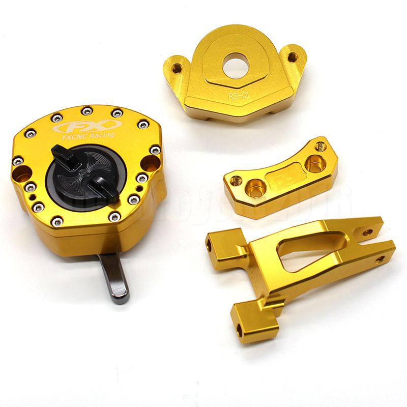 CNC Adjustable Steering Damper Stabilizer with Mounting Bracket Kits For Yamaha YZF R3 R25 2014 2015 2016 2017CNC Adjustable Steering Damper Stabilizer with Mounting Bracket Kits For Yamaha YZF R3 R25 2014 2015 2016 2017