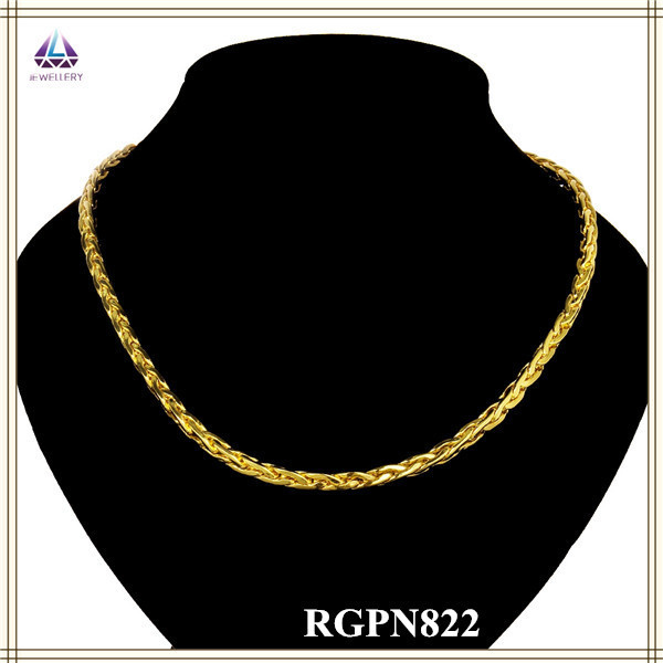 Factory Lastest Fashion Style 18K Gold Chain Necklace New Arrival Types In Roll For Men