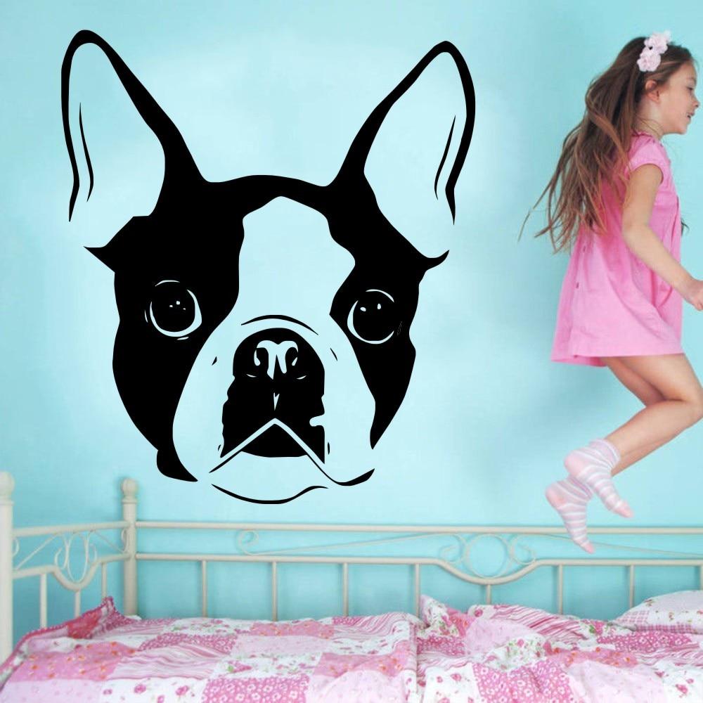 Paws With Attitude Boston Terrier Dog Print Full Length Leggings Teal