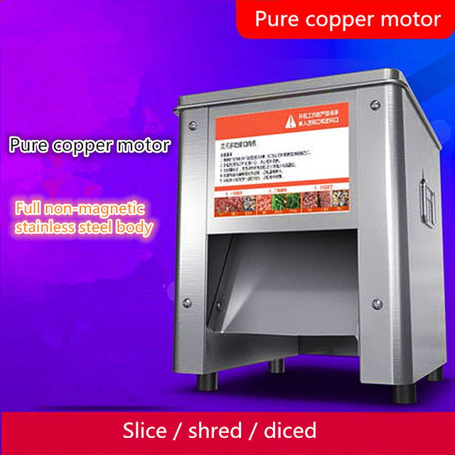 Electric meat slicer commercial automatic cutting machine slice dicing machine meat grinder cutting machine