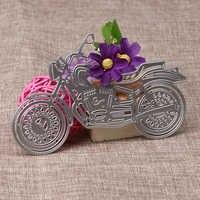 Vehículo motocicleta/artesanía de bicicleta troqueles de corte de Metal plantillas para álbum de recortes tarjeta para álbum de fotos MakingTemplate carpeta nueva llegada