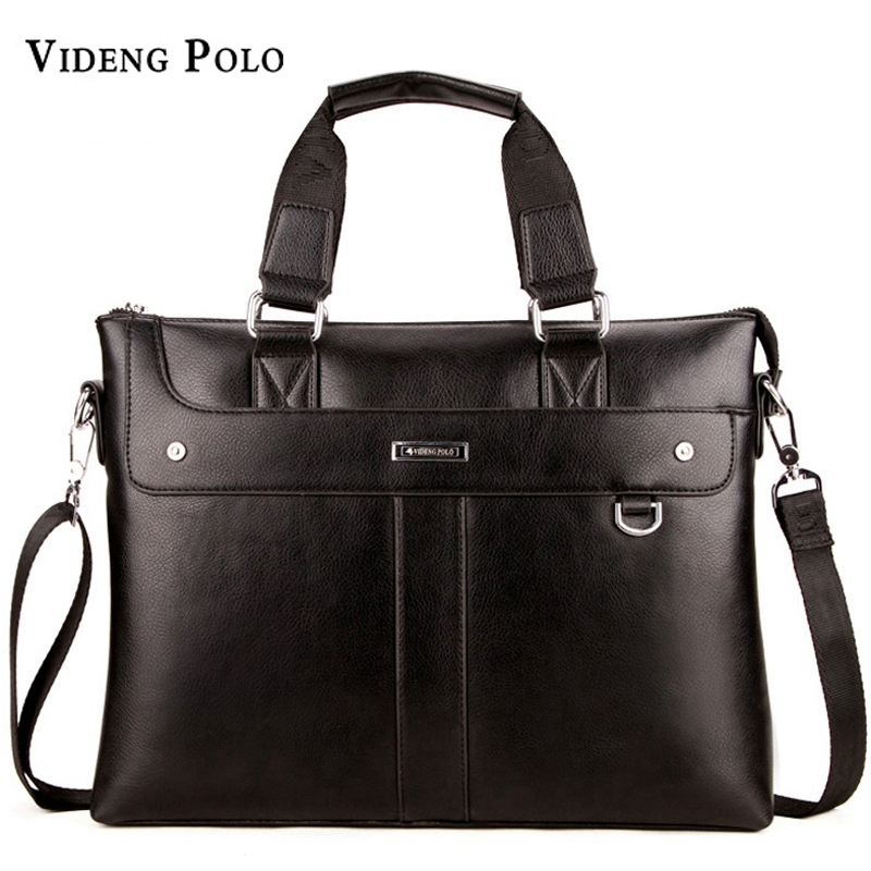 2017 New  brand Men Casual Briefcase Business Shoulder Bag Leather Messenger Bags Computer Laptop Handbag Bag Men's Travel Bags vintage crossbody bag military canvas shoulder bags men messenger bag men casual handbag tote business briefcase for computer