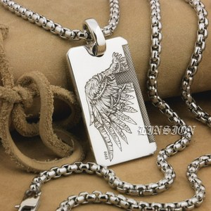 Image 1 - LINSION Handmade 999 Pure Silver Angel Wing Devil Wing 2 Sides Charms Pendant 9X021