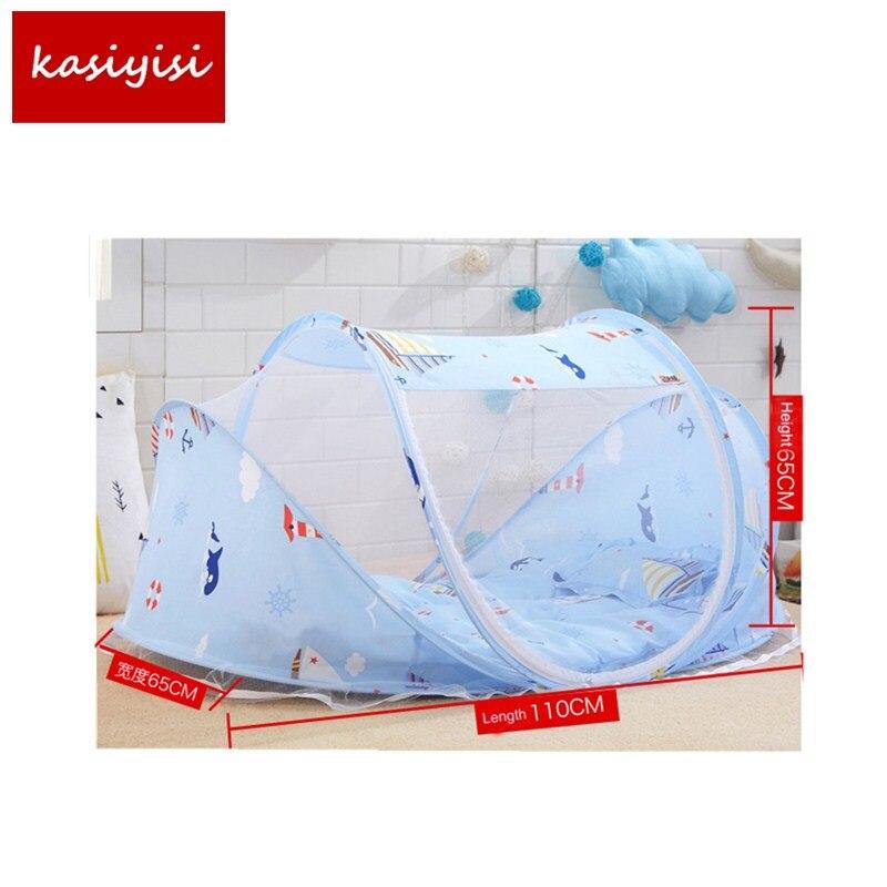 3 Stk/set Hoge Kwaliteit Baby Kinderen Vouwen Bed Klamboe Netto Bed Met Matras Kussen Cartoon