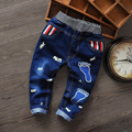 High Quality Children Baby Boy Clothes Boys Cartoon Causal Desiner summer Warm Elastic Sport Kids Boys Jeans Pants