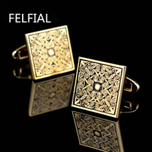 hot deal buy jewelry shirt cufflinks for mens brand cuff buttons cuff links wedding gemelos luxury golden abotoaduras designer free shipping