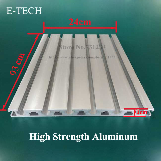 High Strength Aluminum Profile 930*240 mm CNC Engraving Machine Center Working Table 20mm Thick